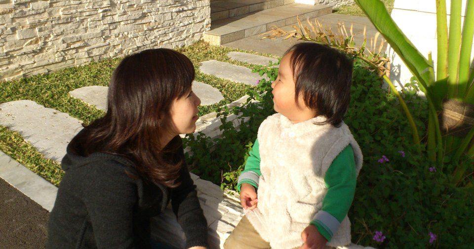 In this photo released by Minaho Kubota, Kubota chats with her two-year-old son in Naha, Okinawa, Japan. Petrified of the radiation spewing from the Fukushima Dai-ichi nuclear plant that went into multiple meltdowns last year, Kubota grabbed her children, left her skeptical husband and moved to the small southwestern island. AP photo   - AP photo