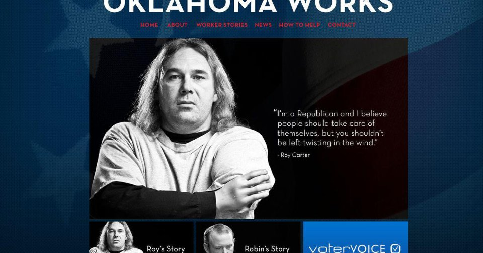 Roy Carter, who lost his hands at work, is pictured on the website for Oklahoma Works.