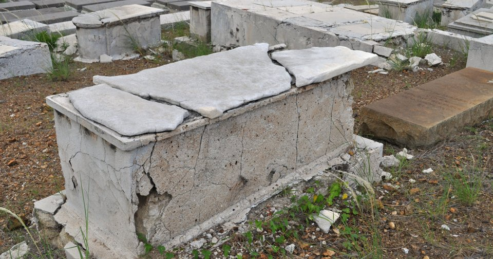 In this Nov. 12, 2012 photo, a crumbling tomb stands in the Beth Haim cemetery in Blenheim on the outskirts of Willemstad, Curacao. AP photo  Karen Attiah