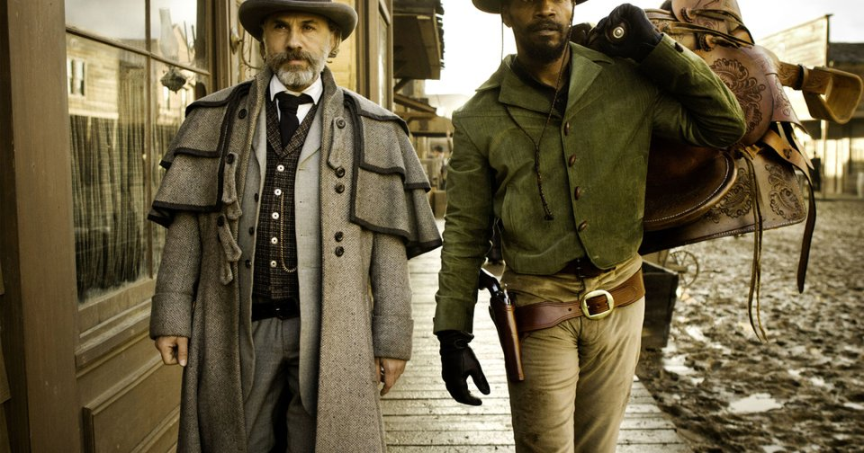 """Christoph Waltz, left, stars as Schultz and Jamie Foxx as Django in the Oscar-winning film """"Django Unchained,"""" written and directed by Quentin Tarantino. The film will receive the Outstanding Theatrical Motion Picture prize at the Wrangler Awards in April in Oklahoma City. AP Photo"""