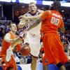 Oklahoma\'s Blake Griffin (23) is fouled by Syracuse\'s Rick Jackson (00) during the second half of the NCAA Men\'s Basketball Regional at the FedEx Forum on Friday, March 27, 2009, in Memphis, Tenn. PHOTO BY CHRIS LANDSBERGER, THE OKLAHOMAN
