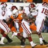 Chris Brown rushes for a touchdown during the first half of the college football game between the University of Oklahoma Sooners (OU) and Oklahoma State University Cowboys (OSU) at Boone Pickens Stadium on Saturday, Nov. 29, 2008, in Stillwater, Okla. STAFF PHOTO BY NATE BILLINGS