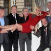 Photo - From left: Michael Palin, Eric Idle, Terry Jones, Terry Gilliam, Carol Cleveland and John Cleese of the comedy troop Monty Python are seen at a photo call, on Thursday, Nov. 21, 2013 in London. They are reuniting for a project. (Photo by Jim Ross/InvisionAP Images)