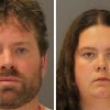 Photo - These images provided by the St. Lawrence County Sheriff's Office shows the booking photo of Stephan Howells II, 39, ,left, and Nicole Vaisey, 25, who was arraigned late Friday Aug. 15, 2014 on charges they intended to physically harm or sexually abuse two Amish sisters after abducting them from a roadside farm stand. (AP Photo/St. Lawrence County Sheriff)