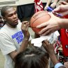Kevin Durant signs autographs before the US Fleet Tracking Basketball Invitational at the Cox Convention Center in Oklahoma City Sunday, Oct. 23, 2011. Photo by John Clanton, The Oklahoman