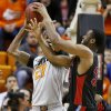 Oklahoma State\'s Kamari Murphy (21) tries to pass around Delaware State\'s Jordan Lawson (30) during an NCAA college basketball between Oklahoma State University and Delaware State at Gallagher-Iba Arena in Stillwater, Okla., Tuesday, December 17, 2013. Photo by Bryan Terry, The Oklahoman