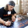 Quinn Sharp signs a poster during Oklahoma State\'s Fan Appreciation Day at Gallagher-Iba Arena in Stillwater, Okla., Saturday, Aug. 4, 2012. Photo by Sarah Phipps, The Oklahoman