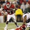 OU\'s DeMarco Murray (7) breaks a long run in the first quarter of the college football game between the University of Oklahoma Sooners and Texas Tech University at Gaylord Family -- Oklahoma Memorial Stadium in Norman, Okla., Saturday, Nov. 22, 2008. BY NATE BILLINGS, THE OKLAHOMAN