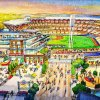 Photo - This artist rendering provided by the Atlanta Braves shows the team's proposed new ballpark and mixed-use development design in Cobb County.  The stadium is scheduled to open in 2017, replacing Turner Field. (AP Photo/Atlanta Braves)