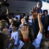 Kevin Durant greets basketball camp participants with high fives after a press conference to officially announce Durant\'s five-year contract extension to play for the Oklahoma City Thunder on Friday, July 9, 2010, in Oklahoma City, Okla. Photo by Chris Landsberger, The Oklahoman