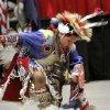Jordan Beartrack, 7, of Apache, Okla, performs a dance at the 2012 Red Earth Festival inside the Cox Convention center on Saturday, June 9, 2012. Beartrack is a member of the Cheyenne/Kiowa tribes. Photo by Jim Beckel, The Oklahoman