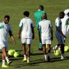 Nigeria\'s John Obi Mikel, second left, attends a training session with teammates in Nelspruit, South Africa, Thursday Jan. 24, 2013, ahead of their African Cup of Nations Group C soccer match against Zambia on Friday. (AP Photo/Themba Hadebe)