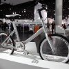 The K Velo, the first bicycle designed by Kia Motors, under the supervision of Chief Design Officer, Peter Schreyer, is shown on display at the North American International Auto Show in Detroit, Wednesday, Jan. 16, 2013. Transportation of the two-wheeled variety is sharing the floor at the auto show in Detroit along with the latest cars, trucks and concept vehicles. Bikes weren\'t the focus of presentations during this week\'s press previews, but they\'re often used in marketing cars. (AP Photo/Paul Sancya)