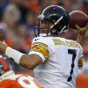 Photo -   Pittsburgh Steelers quarterback Ben Roethlisberger looks to pass against the Denver Broncos during the first quarter of an NFL football game, Sunday, Sept. 9, 2012, in Denver. (AP Photo/David Zalubowski)