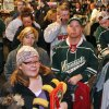 Minnesota Wild fans peruse merchandise during a one-day, 50 percent off sale in the Xcel Energy Center at an intrasquad NHL hockey game, Wednesday, Jan. 16, 2013, in St. Paul, Minn. (AP Photo/The Star Tribune, Marlin Levison) MANDATORY CREDIT; ST. PAUL PIONEER PRESS OUT; MAGS OUT; TWIN CITIES TV OUT