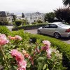 Photo - Flowers bloom on Lombard Street on Tuesday, May 20, 2014, in San Francisco.  San Francisco's crooked street could soon be closed to tourists in the summertime. A transportation commission is scheduled to consider an experimental shutdown of the famously curvaceous block of Lombard Street plus an adjoining block where cars line up and wait.(AP Photo/Marcio Jose Sanchez)