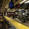 Photo -   A 1975 Cadillac assembly line is displayed at the Detroit Historical Museum in Detroit, Wednesday, Nov. 21, 2012. The museum is reopening six months after the venerable institution in the city's cultural center closed up shop to undergo its first major renovation in a half-century. (AP Photo/Carlos Osorio)