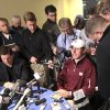 Heisman Trophy finalist Texas A&M quarterback Johnny Manziel speaks to reporters during media availability, Friday, Dec. 7, 2012 in New York. (AP Photo/Mary Altaffer)