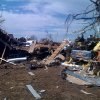 Damage from Tuesday\'s tornado in Long Grove, Oklahoma, as seen on Thursday February 12, 2009. Photo by Johnny Johnson.