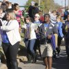 UCO students pass out beads to the crowds during the University of Central Oklahoma\'s homecoming parade in Edmond, OK, Saturday, November 3, 2012, By Paul Hellstern, The Oklahoman