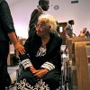 Clara Luper is greeted with a pat on the arm by an audience member during Freedom Fiesta\'s Week Celebration Doc Williams Day at Friendship Baptist Church in Oklahoma City on Sunday, August 17, 2008. By John Clanton, The Oklahoman ORG XMIT: KOD