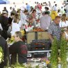 Crowds of shoppers look through produce, flowers and baked goods at the Edmond Farmer\'s Market at Festival Market Place in Edmond, OK, Saturday, July 16, 2011. By Paul Hellstern, The Oklahoman