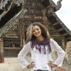 Photo -  Above:  DeEtta Cravens, an Oklahoma City University alumna and a 2014 Charles B. Rangel International Affairs Graduate Fellowship winner, stands in front of a temple in northern Thailand.  Photo Provided   Photo Provided
