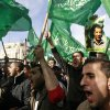 Palestinian Hamas supporters march in support of the people of the Gaza Strip and against Israel\'s military operations, in the West Bank city of Ramallah, Friday, Nov. 16, 2012. (AP Photo/Majdi Mohammed)