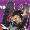 Japan\'s Ayana Onozuka reacts after her second run in the women\'s ski halfpipe final at the Rosa Khutor Extreme Park, at the 2014 Winter Olympics, Thursday, Feb. 20, 2014, in Krasnaya Polyana, Russia. (AP Photo/Sergei Grits)