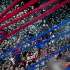 Photo - Argentina's San Lorenzo fans cheer during a Copa Libertadores soccer match against Brazil's Botafogo in Buenos Aires, Argentina, Wednesday, April 9, 2014. (AP Photo/Natacha Pisarenko)