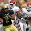 Colorado\'s Hugh Charles (2) races past the Oklahoma defense during the first half of the college football game between the University of Oklahoma Sooners (OU) and the University of Colorado Buffaloes (CU) at Folsom Field on Saturday, Sept. 28, 2007, in Boulder, Co. By CHRIS LANDSBERGER, The Oklahoman