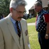 Mike Gonzales, Director of the 45th Infantry Museum, and veteran Steve Cope (right) pause during the Wreath Presentation during the 45th Infantry Division Museum Memorial Day Ceremony outside the museum in Oklahoma City on Monday, May 25, 2009. Photo by John Clanton, The Oklahoman