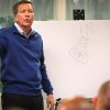 Ohio Governor John Kasich speaks to a crowd at Early Express Services Inc in Dayton Thursday Feb. 7, 2013 about his budget and tax plans, using a white board and a marker to show actual figures. (AP Photo/Dayton Daily News, Jim Witmer) WKEF OUT WRGT OUT WDTN OUT LOCAL PRINT OUT