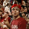 Fans clap at the college bedlam basketball game between The University of Oklahoma Sooners (OU) and Oklahoma State University University Cowboys (OSU) at the Lloyd Noble Center on Monday, Jan. 11, 2010, in Norman, Okla. Photo by Steve Sisney, The Oklahoman.