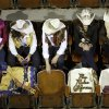 A group of rodeo pageant winners waits before the start of the PRCA National Circuit Finals Rodeo at the State Fair Arena on Friday, March 30, 2012. Photo by Bryan Terry, The Oklahoman
