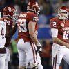 Oklahoma\'s Landry Jones (12) reacts after a play in the Cotton Bowl college football game between the University of Oklahoma (OU)and Texas A&M University at Cowboys Stadium in Arlington, Texas, Friday, Jan. 4, 2013. Oklahoma lost 41-13. Photo by Bryan Terry, The Oklahoman