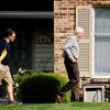 Jerry Sandusky walks to his house with Attorney Karl Rominger, Sunday, June 17, 2012, in Lemont, Pa. After four days of testimony that saw eight men from 18 to 28 years old tell jurors that Sandusky sexually abused them as children, the former Penn State assistant football coach could take the stand in his own defense at his criminal trial, but it\'s not certain that will happen as trial resumes on Monday. (AP Photo/Centre Daily Times, Abby Drey)