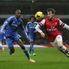 Photo - Arsenal's Aaron Ramsey, right attempts to take the ball past Chelsea's Ramires during their English Premier League soccer match between Arsenal and Chelsea at the Emirates stadium in London, Monday, Dec. 23, 2013. (AP Photo/Alastair Grant)
