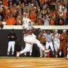 Texas\' Cody Johnson (31) scores a touchdown during the college football game between the Oklahoma State University Cowboys (OSU) and the University of Texas Longhorns (UT) at Boone Pickens Stadium in Stillwater, Okla., Saturday, Oct. 31, 2009. Photo by Sarah Phipps, The Oklahoman