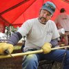 Rodney Wilson demonstrates how to make a bow from a piece of Osage Orange wood during school day of the Oklahoma Wildlife Expo at the Lazy E Arena and Ranch in Guthrie, OK, Friday, September 28, 2012, By Paul Hellstern, The Oklahoman