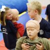 Jack Kilgallon, 7, right, and Hailey Brooks, 5, left, drag dummies during the Edmond Fire Department\'s Children\'s Safety Challenge at Fire Station No. 5 in Edmond, Okla., June 4, 2008. BY NATE BILLINGS, THE OKLAHOMAN