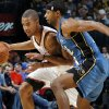 Oklahoma City\'s Eric Maynor (6) drives the ball past Mustafa Shakur (22) of Washington during the NBA basketball game between the Washington Wizards and the Oklahoma City Thunder at the Oklahoma City Arena in Oklahoma City, Friday, January 28, 2011. Photo by Nate Billings, The Oklahoman