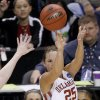 OU\'s Whitney Hand shoots the ball during the NCAA women\'s basketball tournament game between Oklahoma and Pittsburgh at the Ford Center in Oklahoma City, Sunday, March 29, 2009. PHOTO BY BRYAN TERRY, THE OKLAHOMAN