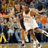 The Thunder\'s James Harden gets a steam on Memphis\' Greivis Vasquez (21) during the NBA basketball game between the Oklahoma City Thunder and the Memphis Grizzlies at the Oklahoma City Arena on Tuesday, Feb. 8, 2011, Oklahoma City, Okla. Photo by Chris Landsberger, The Oklahoman