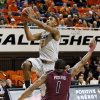 OSU\'s Le\'Bryan Nash (2) moves to the hoop past Keith Pickens (1) of Missouri State during a men\'s college basketball between Oklahoma State University and Missouri State at Gallagher-Iba Arena in Stillwater, Okla., Saturday, Dec. 8, 2012. Photo by Nate Billings, The Oklahoman