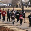 Runners participate in the Frigid Five Miler run at J.L. Mitch Park in Edmond, Okla., Saturday, February 10, 2007. Photo by Paul Hellstern / The Oklahoman.