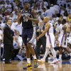 Memphis\' Zach Randolph (50) reacts during Game 5 in the second round of the NBA playoffs between the Oklahoma City Thunder and the Memphis Grizzlies at Chesapeake Energy Arena in Oklahoma City, Wednesday, May 15, 2013. Memphis won 88-84. Photo by Bryan Terry, The Oklahoman