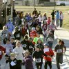 Third-graders from Russell Dougherty Elementary School in Edmond, OK, take part in a walk-a-thon fundraiser at the City of Edmond\'s Children\'s Safety Village, Friday, Nov. 18, 2011. By Paul Hellstern, The Oklahoman