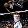 Oklahoma City\'s Kevin Durant (35) shoots a lay up during the NBA basketball game between the Oklahoma City Thunder and the Portland Trail Blazers at Chesapeake Energy Arena in Oklahoma City, Sunday, March 18, 2012. Photo by Sarah Phipps, The Oklahoman.