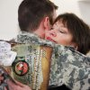 Sgt. Micah Bennett, Tulsa, gets a hug from his mother, Pamela Davis of Tulsa, after the 45th Infantry Brigade Combat Team Deployment Ceremony in downtown Oklahoma City, Wednesday, Feb. 16, 2011. This will be Bennett\'s second deployment. Photo by Jim Beckel, The Oklahoman